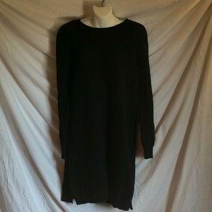 Madewell black merino wool sweater dress